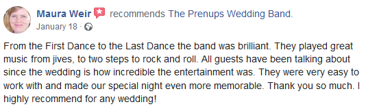 The Prenups wedding band reviews